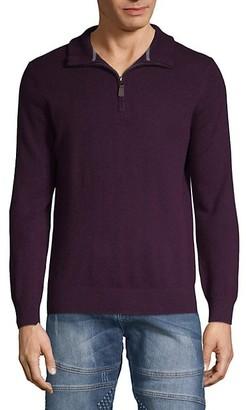 Amicale Cashmere Quarter-Zip Sweater