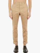 Thom Browne Camel Cotton Chinos
