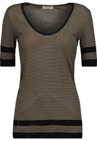Sonia Rykiel Striped Cotton And Silk-Blend Top