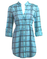 Pastel Plaid Tunic Shirt