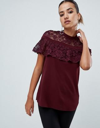 AX Paris lace short sleeve top