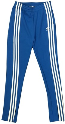 adidas Blue Polyester Trousers
