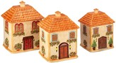 Certified International Piazette 3D Villa House 3-piece Canister Set