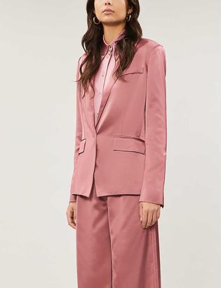 Paige Samille satin-crepe blazer