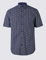 Limited Edition Pure Cotton Slim Fit Floral Print Shirt
