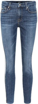 Ankle cropped mid-rise skinny jeans