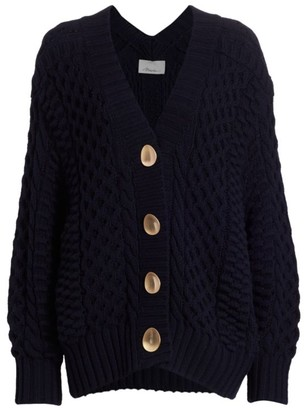 3.1 Phillip Lim Shank Button Cable Cardigan