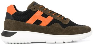 Hogan Color-Block Lace-Up Sneakers