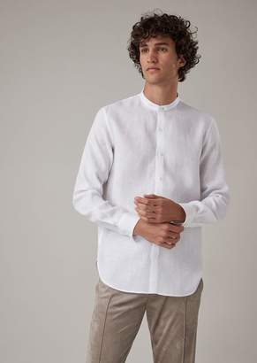 Giorgio Armani Regular-Fit Shirt In Pure Linen