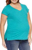 A.N.A a.n.a Short Sleeve V Neck T-Shirt-Plus Maternity