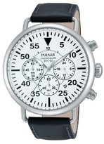 Pulsar Gents Watch Sport Quartz Analogue XL Leather PT3473 x 1