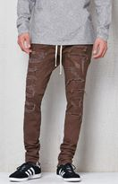 PacSun Drop Skinny Destroyed Stitch & Repair Jogger Pants