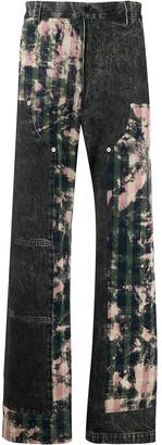 Versace Tartan Motif Jeans