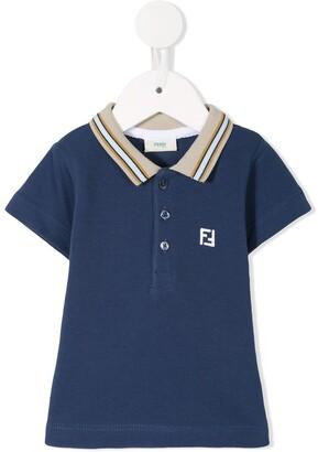 Fendi Kids Logo Polo Shirt
