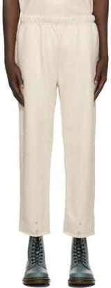 LES TIEN Off-White Front Snap Lounge Pants