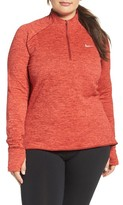Nike Plus Size Women's Therma Sphere Element Quarter-Zip Pullover