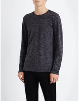 John Varvatos Marl-effect Linen Top