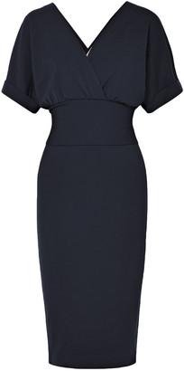 Brunello Cucinelli Wrap-effect Tie-front Stretch-wool Dress