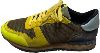 Valentino Rockrunner Yellow Plastic Trainers