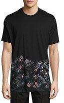 Givenchy Columbian-Fit Monkeys Printed-Hem T-Shirt, Black