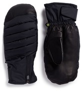 Burton 'Oven' down padded leather snowboard mittens