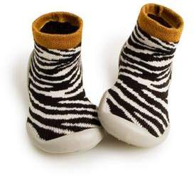 Collegién Zebra Striped Phosphorescent Slippers - 30-31