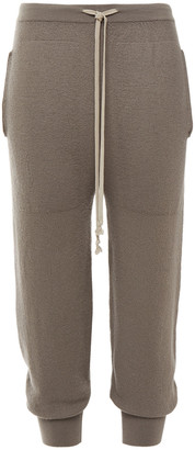 Rick Owens Cropped Cashmere Track Pants