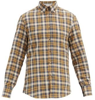 Brunello Cucinelli Checked Button-down Collar Cotton Shirt - Yellow Multi
