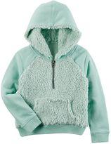 Carter's Baby Girl Hooded Sherpa Sweatshirt