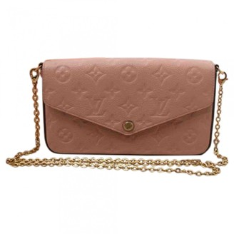 Louis Vuitton Felicie Pink Leather Clutch bags