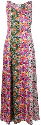 M Missoni Floral Print Panelled Dress