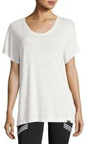 Koral Activewear Banded Short-Sleeve Jersey Tee, White