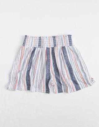FULL CIRCLE TRENDS Stripe Smocked Waist Girls Shorts