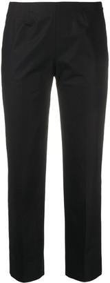 Piazza Sempione Plain Slim-Fit Trousers