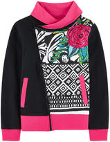 Desigual Zip sweatshirt with sequins