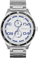 JCPenney FASHION WATCHES Mens Multifunction-Look Silver-Tone Watch
