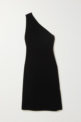 Bottega Veneta One-shoulder Stretch-knit Midi Dress - Black