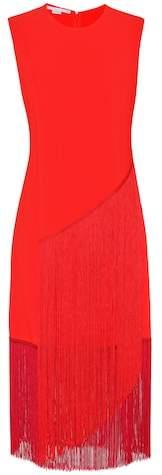 Stella McCartney Fringed crêpe dress