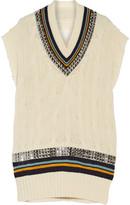 Maison Margiela Embellished cable-knit wool mini dress
