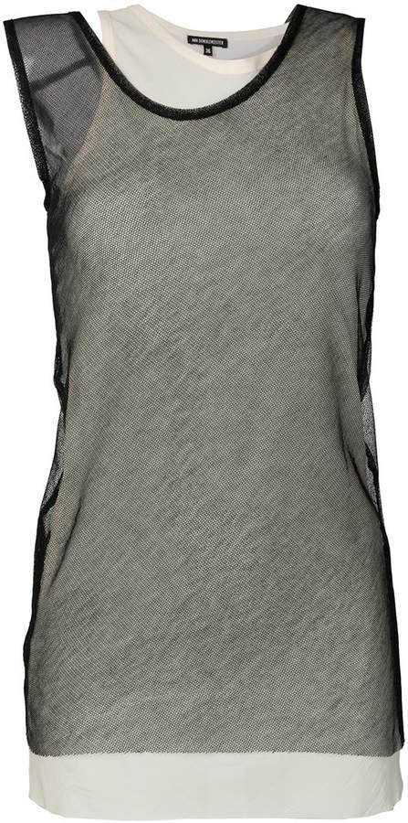 Ann Demeulemeester layered asymmetric tank top