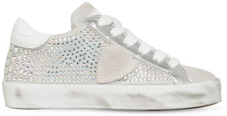 Philippe Model Paris Embellished Suede Sneakers