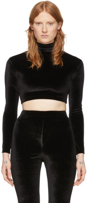 Vetements Black Evening Cropped Turtleneck