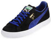 Puma Clyde Suede Low-Top Sneaker, Black