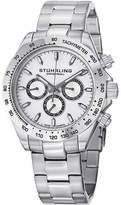 Stuhrling Original Sthrling Original Mens White Dial Stainless Steel Watch