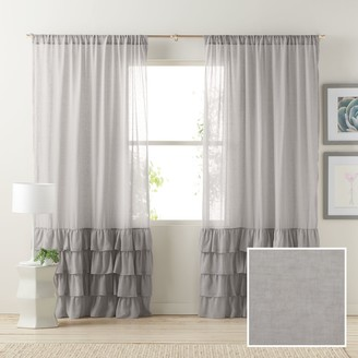 Lauren Conrad 1-Panel Kate Ruffle Sheer Curtain