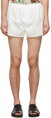 Haider Ackermann White Rifleman Shorts