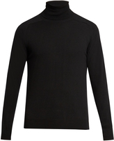 Ami Wool and cashmere-blend roll-neck sweater
