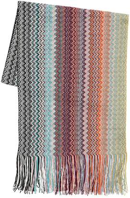 Missoni Multi-color Striped Wool Knit Scarf