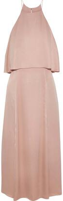 Zimmermann Layered Satin-crepe Midi Dress