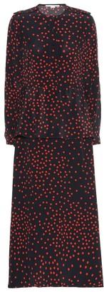 Stella McCartney Polka-dot silk-crApe maxi dress